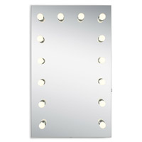 Elegant Lighting MRE8533K Hollywood 40 X 24 inch Silver Anodized Lighted Wall Mirror
