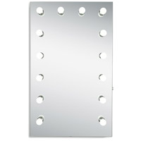 Elegant Lighting MRE8535K Hollywood 40 X 24 inch Silver Anodized Lighted Wall Mirror