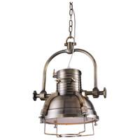 Urban Classic by Elegant Lighting Industrial 1 Light Pendant in Antique Brass PD1217