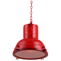 Urban Classic by Elegant Lighting Industrial 1 Light Pendant in Red PD1218