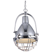 Urban Classic by Elegant Lighting Industrial 1 Light Pendant in Chrome PD1223
