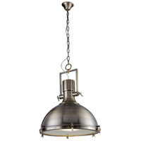 Urban Classic by Elegant Lighting Industrial 1 Light Pendant in Antique Brass PD1226