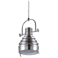 Urban Classic by Elegant Lighting Industrial 1 Light Pendant in Brushed Nickel PD1229