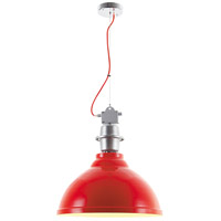 Urban Classic by Elegant Lighting Industrial 1 Light Pendant in Red PD1233