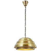 Urban Classic by Elegant Lighting Industrial 1 Light Pendant in Antique Brass PD1237