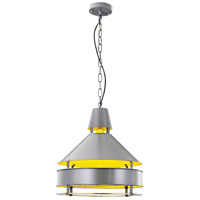 Urban Classic by Elegant Lighting Industrial 1 Light Pendant in Grey PD1240