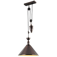 Urban Classic by Elegant Lighting Industrial 1 Light Pendant in Black PD1242