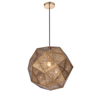 Elegant Lighting PD2056 Kronos 1 Light 19 inch Gold Pendant Ceiling Light, Urban Classic