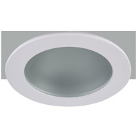 Elitco Recessed by Elegant Lighting 3-in. Shower Trim Frost Glass with Matte White Trim Ring R3-409MW