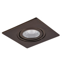 Elitco MR16/GU10/GU10LED/MR16/PAR16LED Bronze Recessed Adjustable Spot, Square, 3-in.