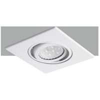 Elitco Recessed by Elegant Lighting 3-in. Matte White 35 Degree Adjustable Spot with Matte White Square Trim Ring R3-588MW