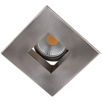 Elitco Recessed by Elegant Lighting 3-in. Brushed Nickel Square Baffle Trim MR16 R3-590BN