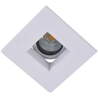 Elitco Recessed by Elegant Lighting 3-in. Matte White Square Baffle Trim MR16 R3-590MW
