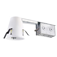 Elitco Recessed by Elegant Lighting 3-in. Remodel Non IC Air Tight Housing 50W GU10 in White R3-G19RAT