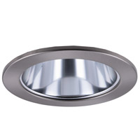 Elitco PAR20/BR20 Brushed Nickel Recessed Reflector Trim Ceiling Light, Round, 4-in.
