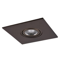 Elitco MR16/GU10/GU10LED/MR16/PAR16LED Bronze Recessed Adjustable Spot, Square, 4-in.