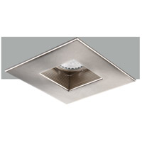 Elitco Recessed by Elegant Lighting 4-in. Brushed Nickel Square Baffle Trim MR16 R4-590BN