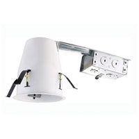 Elitco Recessed by Elegant Lighting 4-in. Remodel Line Voltage Housing 50W GU10 in White R4-G19RAT