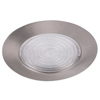 Elitco A19 Brushed Nickel Recessed Shower Trim Ceiling Light, Round, 6-in., Fresnel Lens