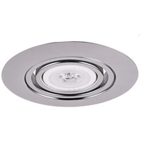 Elitco PAR30/R30/BR30/PAR30LED Chrome Recessed Gimbal Ring Ceiling Light, Round, 6-in.
