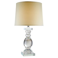 Elegant Lighting TL1007 Regina 28 inch 40 watt Chrome Table Lamp Portable Light, Urban Classic