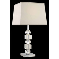 Elegant Lighting Grace 1 Light Table Lamp in Chrome TL101