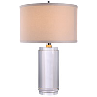 Urban Classic by Elegant Lighting Regina 1 Light Table Lamp in Chrome with Clear Crystal TL1016