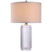 Elegant Lighting TL1016 Regina 22 inch 40 watt Chrome Table Lamp Portable Light Urban Classic