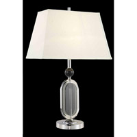 Elegant Lighting Grace 1 Light Table Lamp in Chrome TL102