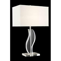 Elegant Lighting Grace 1 Light Table Lamp in Chrome TL104