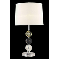 Elegant Lighting Grace 1 Light Table Lamp in Chrome TL105
