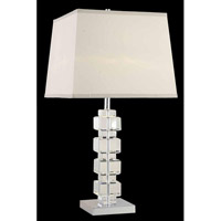 Elegant Lighting Grace 1 Light Table Lamp in Chrome TL107