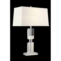 Elegant Lighting Grace 1 Light Table Lamp in Chrome TL108