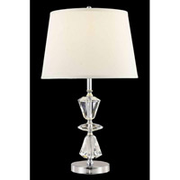 Elegant Lighting Grace 1 Light Table Lamp in Chrome TL109
