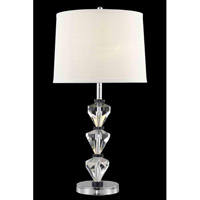 Elegant Lighting Grace 1 Light Table Lamp in Chrome TL110