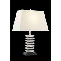 Elegant Lighting Grace 1 Light Table Lamp in Chrome TL111