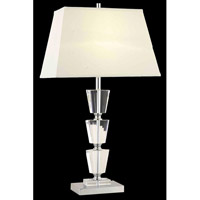 Elegant Lighting Grace 1 Light Table Lamp in Chrome TL112