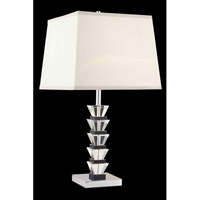 Elegant Lighting Grace 1 Light Table Lamp in Chrome TL113