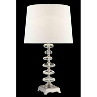 Elegant Lighting Grace 1 Light Table Lamp in Chrome TL115