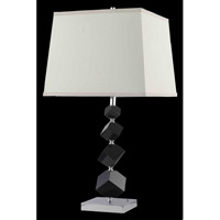 Elegant Lighting Grace 1 Light Table Lamp in Chrome TL116