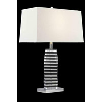 Elegant Lighting Grace 1 Light Table Lamp in Chrome TL117