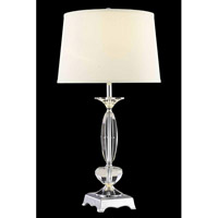Elegant Lighting Grace 1 Light Table Lamp in Chrome TL118