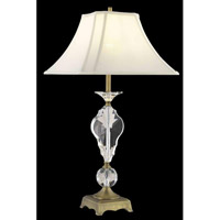 Elegant Lighting Grace 1 Light Table Lamp in Matte Aged Bronze TL119