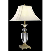 Elegant Lighting Grace 1 Light Table Lamp in Matte Aged Bronze TL120