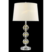 Elegant Lighting Grace 1 Light Table Lamp in Chrome TL121