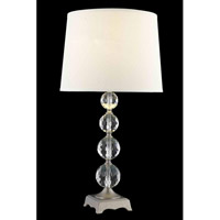 Elegant Lighting Grace 1 Light Table Lamp in Antique Silver TL122
