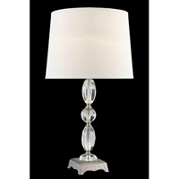 Elegant Lighting Grace 1 Light Table Lamp in Antique Silver TL123
