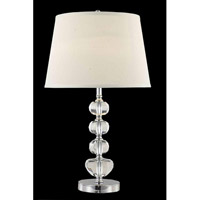 Elegant Lighting Grace 1 Light Table Lamp in Chrome TL124