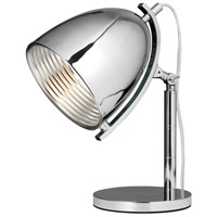 Industrial 17 inch 60 watt Chrome Table Lamp Portable Light, Urban Classic