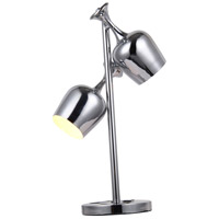 Urban Classic by Elegant Lighting Industrial 2 Light Table Lamp in Chrome TL1247